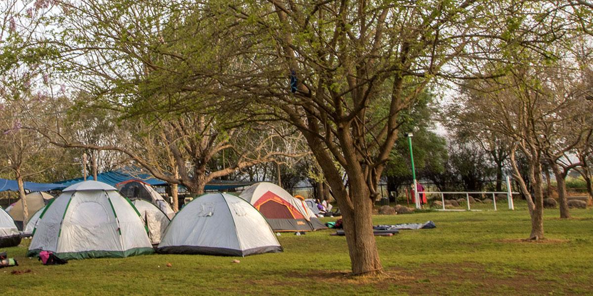 קמפינג בצפון באוהל אישי מהבית