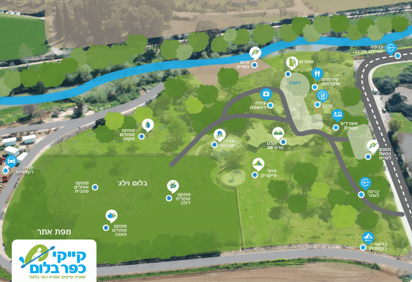 מפת האתר - קייקי כפר בלום